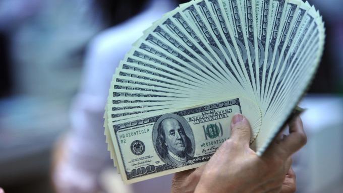 美國總統當政與美元指數表現。(圖/AFP)