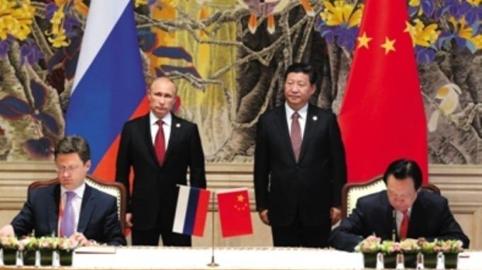 中、俄首條陸上天然氣管線開通 加深戰略合作  (圖片:AFP)