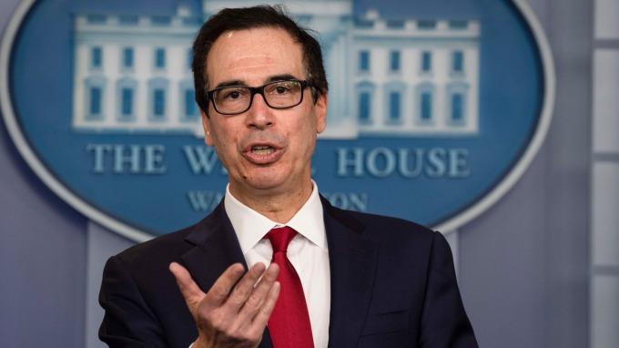 美財長喊話各國先暫停數位稅,再談多邊協議。(圖片:AFP)
