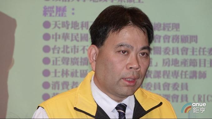 台北市不動產仲介公會理事長黃文雄。(鉅亨網記者張欽發攝)