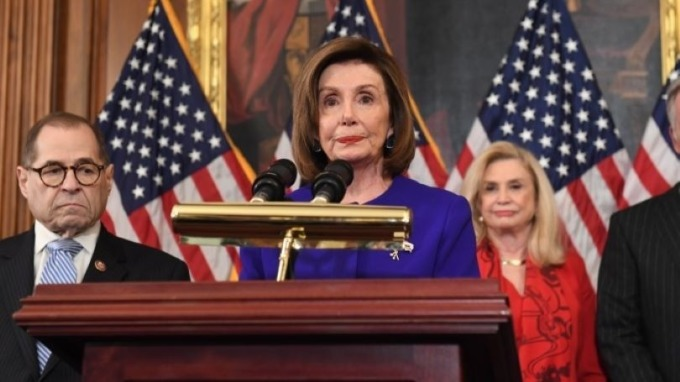 美國眾院院長佩洛西(Nancy Pelosi)   (圖:AFP)