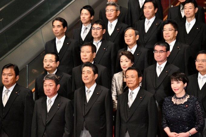日本的女性閣員比例仍少 (圖片:AFP)