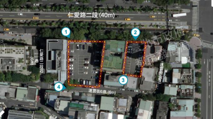 台電仁愛路500坪土地招標 估增值30億元資產。(圖:台電提供)