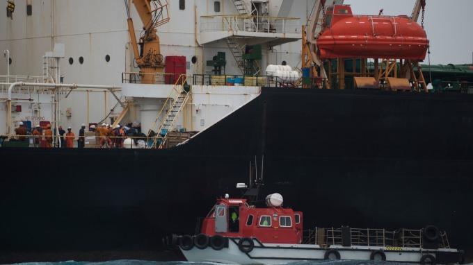 美強化伊朗制裁行動 杜絕船對船海上非法交易(示意圖:AFP)