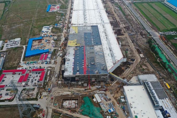 (圖片:AFP)特斯拉上海超級工廠