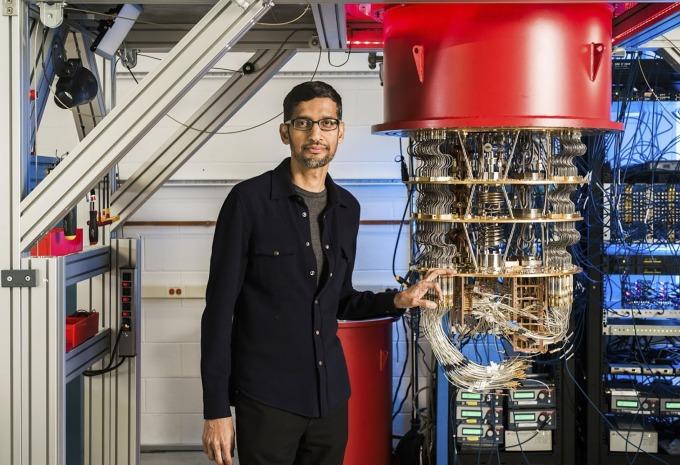 Google 的量子電腦 (圖片:AFP)