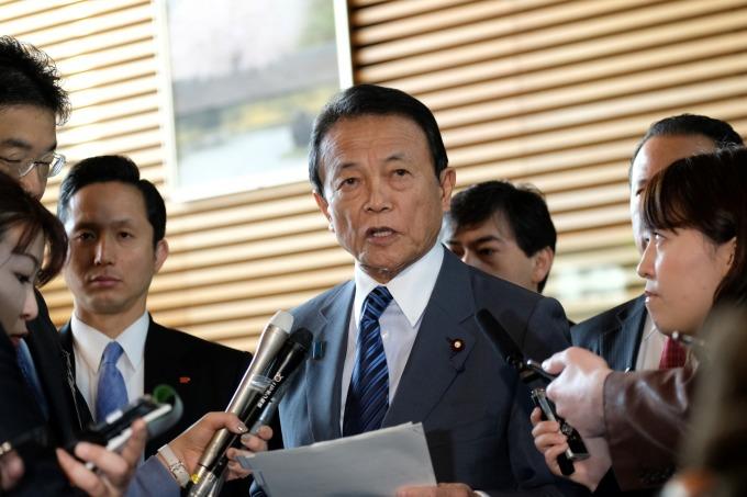 日本財務大臣麻生太郎 (資料照片) (圖片:AFP)