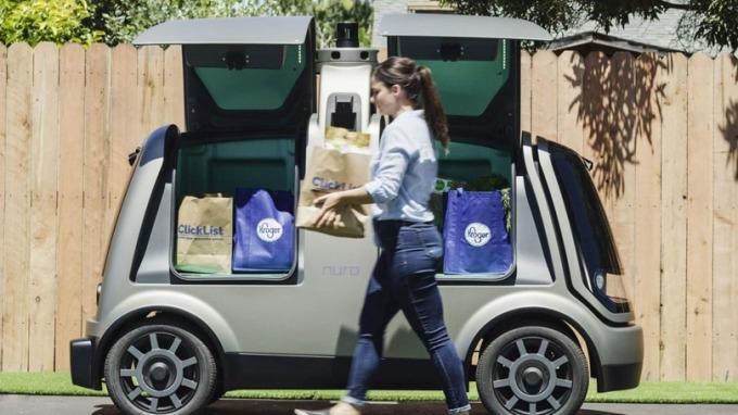 自駕外送機器人要來了!明年加州也要開放 (圖片:AFP)