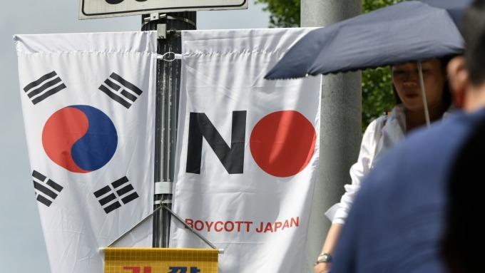 日韓貿易戰展開後 兩國經貿首長首度進行對話 (圖片:AFP)