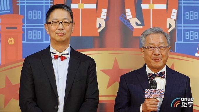 廣運董事長謝清福(右)及執行長謝明凱。(鉅亨網記者張欽發攝)