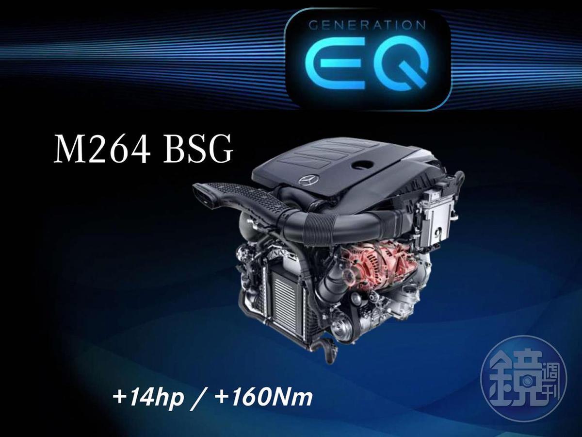 配備在剛上市的新C200上的,即為M264 EQ Boost引擎。