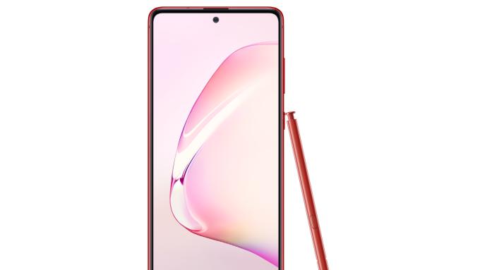 三星 Galaxy Note10 Lite 星環紅。(圖:台灣三星提供)
