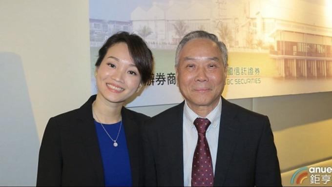 泰金-KY董事長許大進(右)及總經理許偵容。(鉅亨網記者張欽發攝)