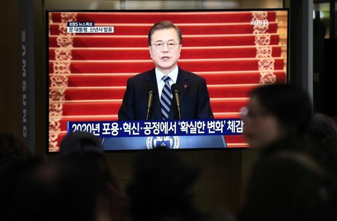 文在寅新年談話釋善意 盼改善日韓關係並扶植國內產業 (圖片:AFP)
