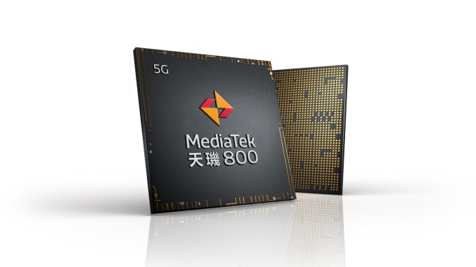 聯發科天璣800系列晶片。(聯發科提供)