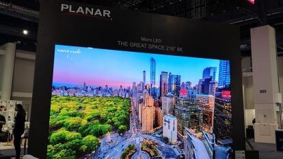 元豐新科技導入客戶超小間距LED顯示屏。(圖:晶電提供)