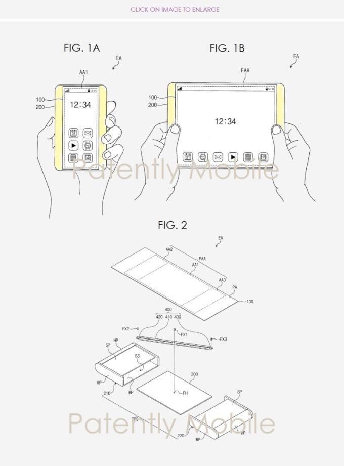 三星專利示意圖 (圖片: patentlyapple.com)