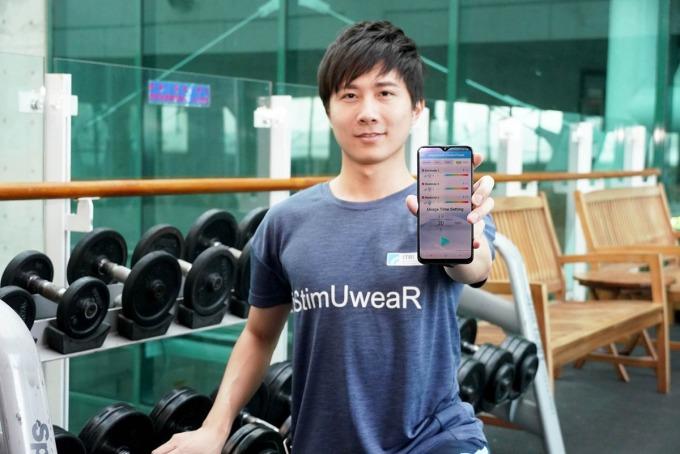 「iStimUweaR 複合式智能穿戴系統」可在衣服上加值低周波電導按摩,促進血液循環、減輕或舒緩疼痛,同時具有舒適、耐水洗的特性。