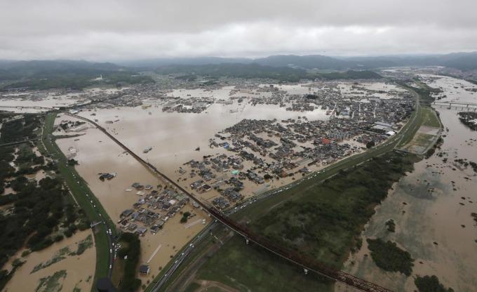 2018年的西日本豪雨帶來嚴重災害 (圖片:AFP)