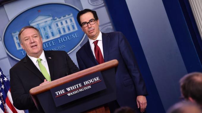 白宮宣布:對伊朗金屬、紡織等產業和八位高官進行制裁 (圖:AFP)