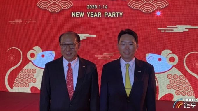 左起為上銀集團總裁卓永財、上銀科技董事長卓文恒。(鉅亨網記者林薏茹攝)