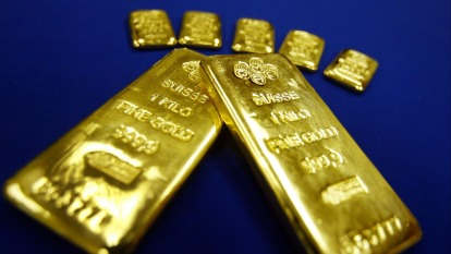 〈貴金屬盤後〉美財報季樂觀開跑 通膨跡象減弱 黃金5日來收低4日(圖片:AFP)