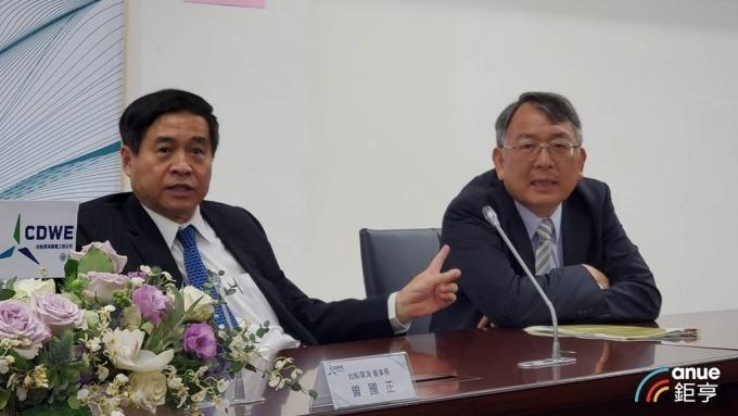 台船董事長鄭文隆(左)和總經理曾國正(右)。(鉅亨網資料照)