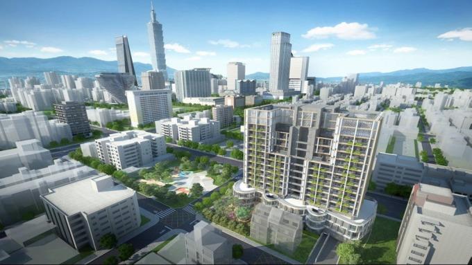 住都中心與國美建設攜手將合推北市信義兒福B1-1都更案計畫圖。(圖:住都中心提供)