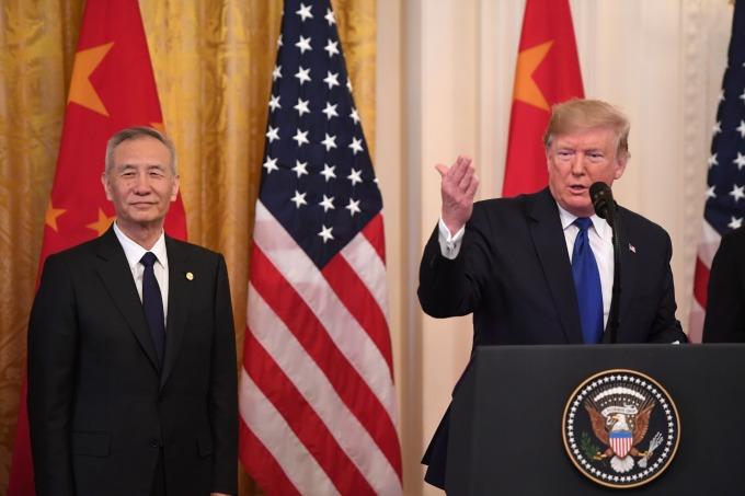 美中發表談話。(圖片:AFP)