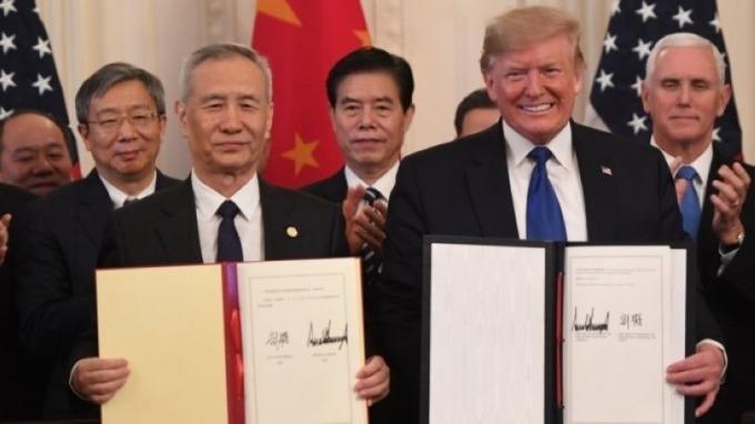 貿易協議履約風險令中國經濟不容樂觀 (圖片:AFP)