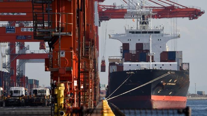日本12月份出口年減6.3% 連十三個月萎縮(圖片:AFP)