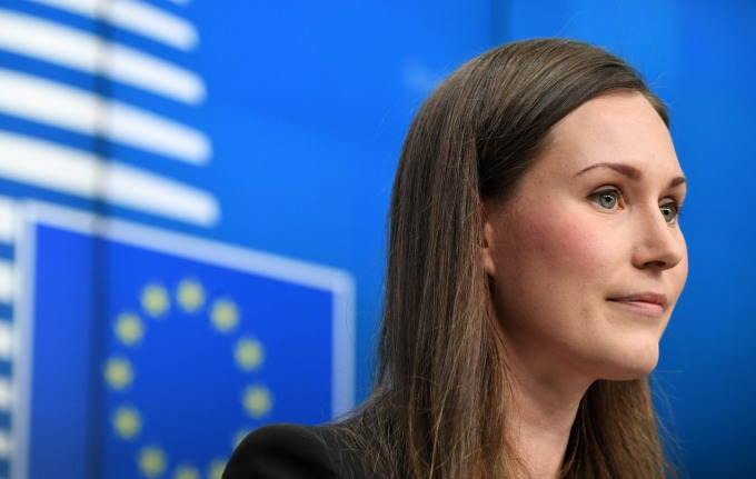芬蘭總理馬林 (Sanna Marin) (圖片:AFP)