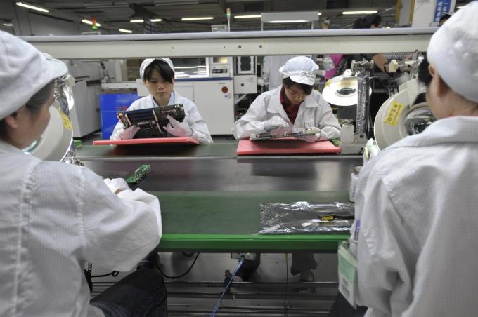 富士康中國產線圖。(圖片:AFP)