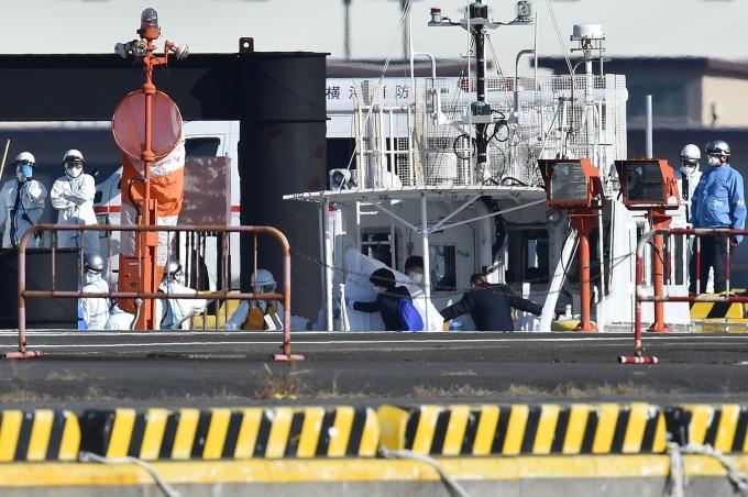 鑽石公主豪華遊輪驗出10人感染 傳有20名台人搭乘 (圖片:AFP)