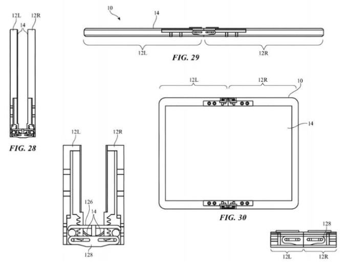蘋果專利中的鉸鏈機制 (圖片:macrumors)