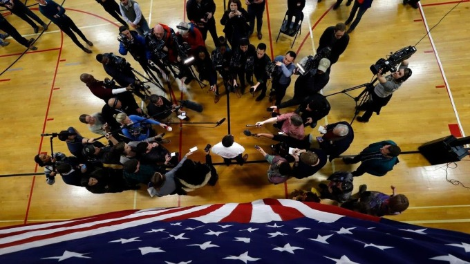 愛荷華州的黨團會議代表美國2020總統大選初選正式起跑。(圖:東方IC/鏡週刊提供)