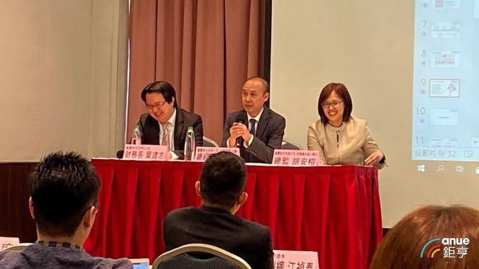 左至右為麗豐財務長葉建志、總經理楊奇志及總監胡安榕。(鉅亨網資料照)