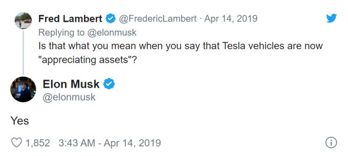 馬斯克表明特斯拉汽車將成為「增值資產」(圖片:electrek)
