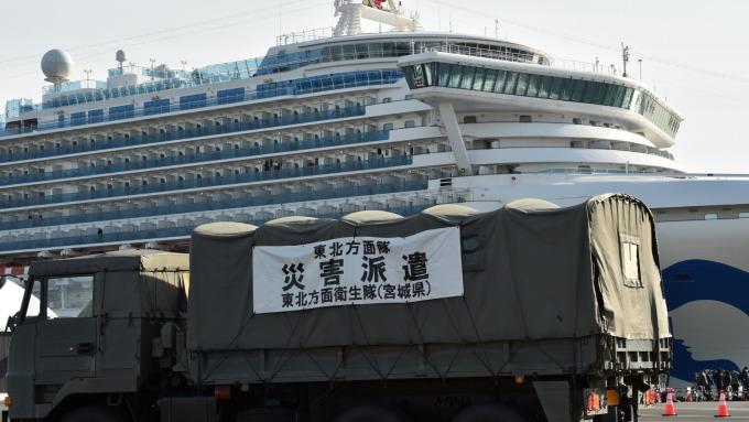 鑽石公主再增39人確診 日本檢疫官也中鏢 (圖片:AFP)