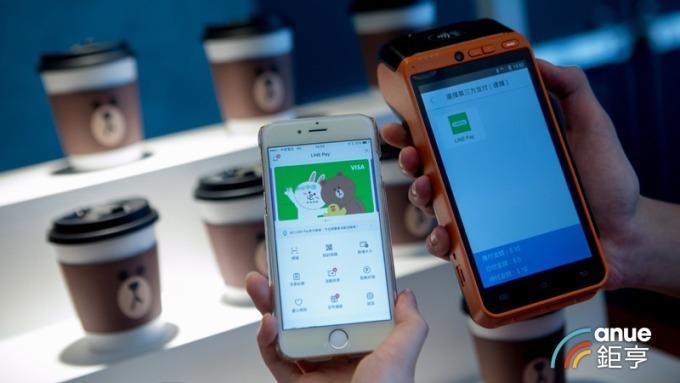 近700萬人使用電子支付 LINE Pay一卡通、街口支付占比就過半。(鉅亨網資料照)