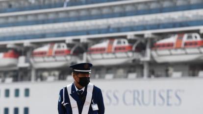 22名台人困鑽石公主號 陳時中:擬包機接回 與日方洽談中。(圖:AFP)