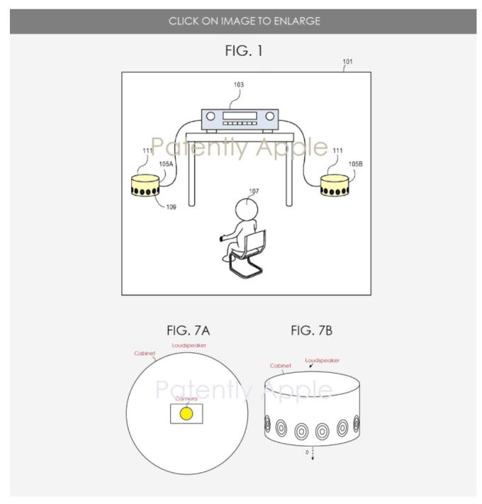 蘋果立體聲系統專利示意圖 (圖片:patentlyapple)