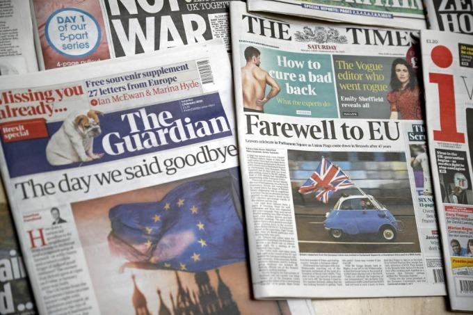 英國於 1 月底正式脫離歐盟 (圖: AFP)