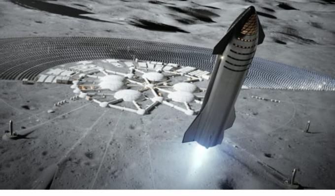 Starship 火箭示意圖 (圖片: CNBC)
