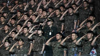 南韓軍方11人感染武漢肺炎 7700名官兵眷屬遭隔離 (圖片:AFP)