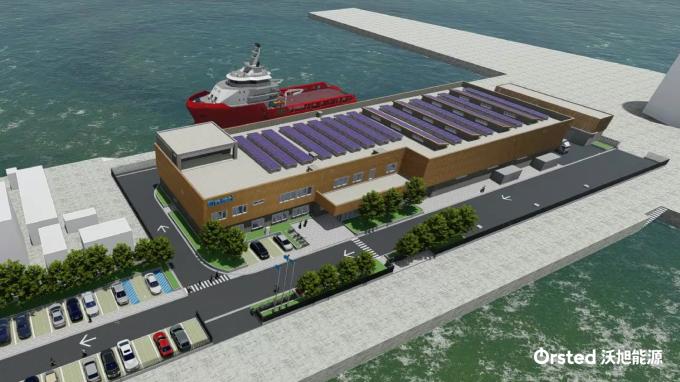 離岸風電外商沃旭能源今 (25) 日宣布,已與臺灣港務公司簽訂合約。(圖:沃旭提供)