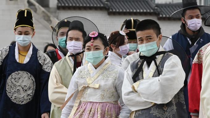南韓疫情失控?單日增加144人確診 (圖片:AFP)