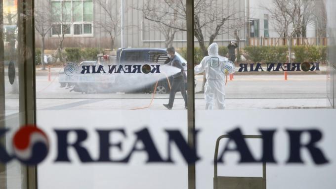 大韓航空肺炎確診空服員 證實曾飛洛杉磯 (圖:AFP)