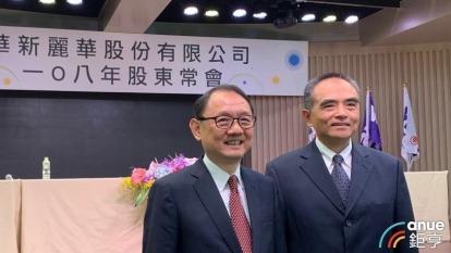 左為華新麗華董事長焦佑倫、右為前總經理鄭慧明。(鉅亨網資料照)
