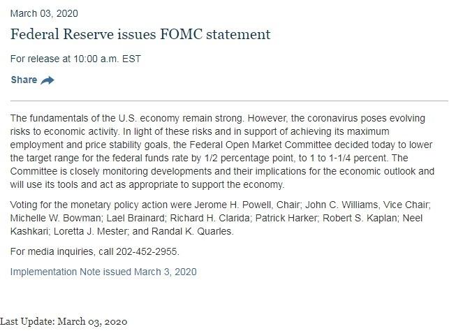 聯準會利率聲明 圖片:Fed